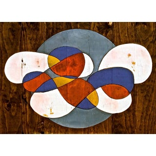 Contemporary Abstract Stained Wood