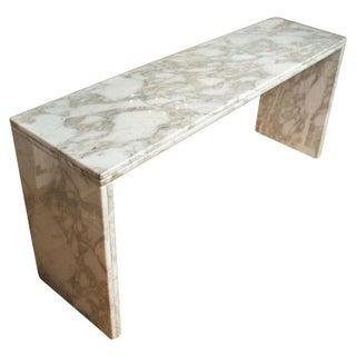 Carrara Marble Console Table