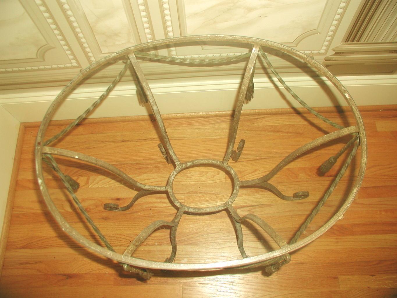 italian metal rope design & glass coffee table   chairish