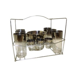 Dorothy Thorpe Ice Bucket & Glasses Caddy Set