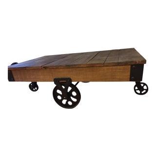 Rustic Industrial Wheel Barrow Coffee Table