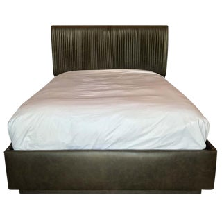 Empiric Zohar Leather Upholstered Queen Bed