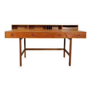 Vintage Peter Løvig Nielsen Mid-Century Danish Teak Flip Top Partner's Desk