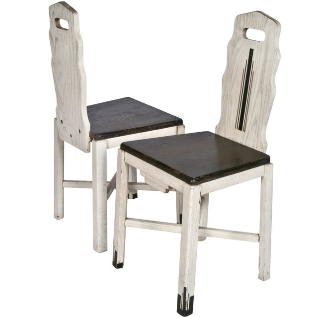 Vintage Wood Sellers Dining Chairs - A Pair - Image 3 of 3