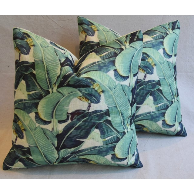 Banana Leaf Pillows - A Pair - Image 2 of 5