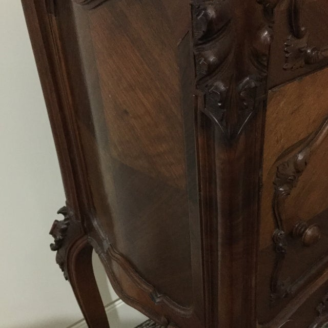 Antique French Country Marble Top Nightstand - Image 7 of 10