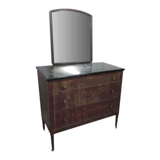Metal Dresser With Mirror