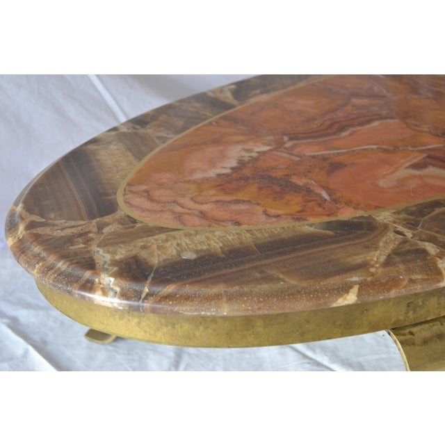 1970s Vintage Mueller Faux Marble Oval Table - Image 6 of 8