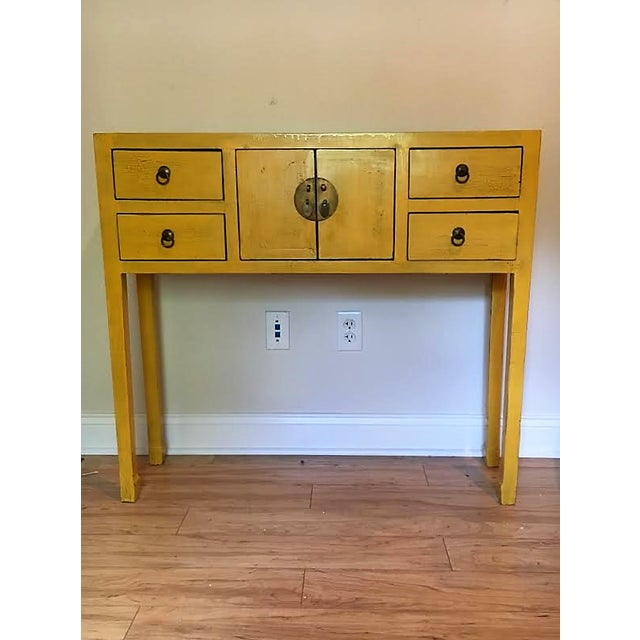 Narrow Vintage Chinoiserie Console - Image 2 of 4