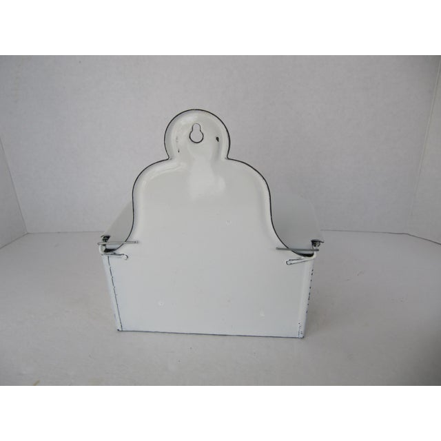 Image of French Country White Enamel Storage Box