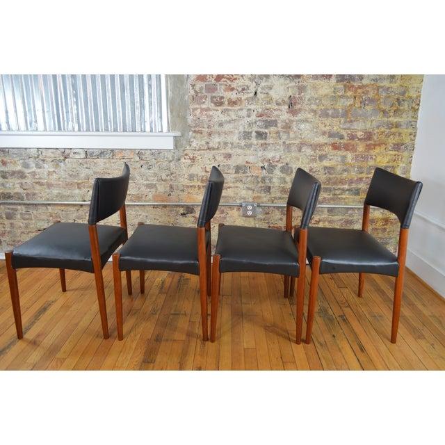 Ejner Larsen & Aksel Bender Madsen for Willy Beck Danish Teak Dining Chairs- Set of 6 - Image 4 of 7
