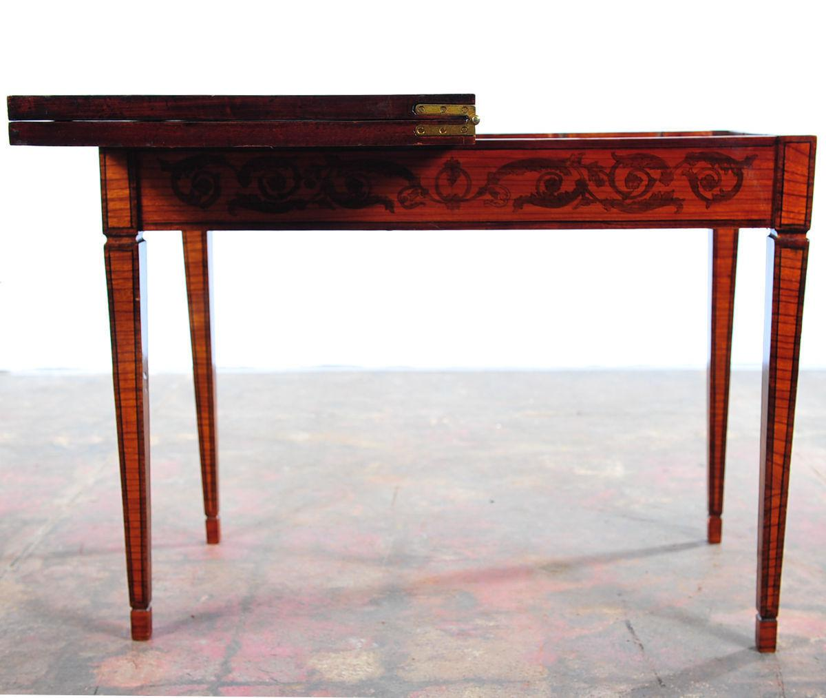 Antique Italian Renaissance Painted Game Table With Lacquered Folding Top    Image 9 Of 10
