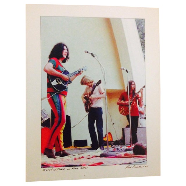 Image of Vintage Jerry Garcia Grateful Dead Photograph