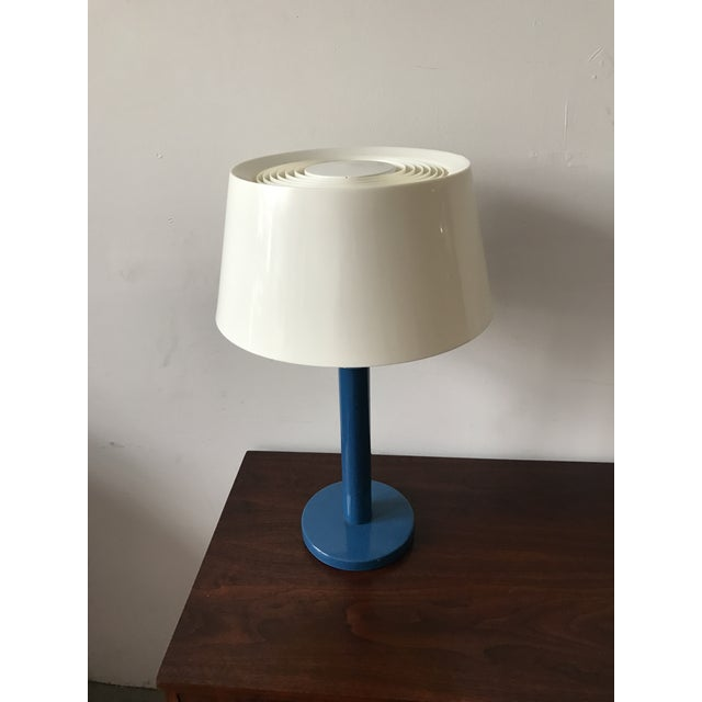 Gerald Thurston Mid-Century Cobalt Table Lamp - Image 6 of 7