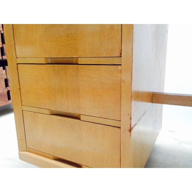 Mid Century Desk in Blonde Oak Finish - Image 7 of 7
