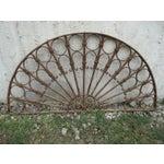Image of Antique Victorian Iron Garden Gate Window