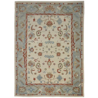 Contemporary Turkish Oushak Rug - 12′4″ × 17′