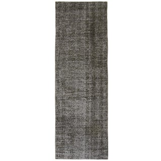 Grey Overdyed Carpet Runner - 2'6 x 8'2