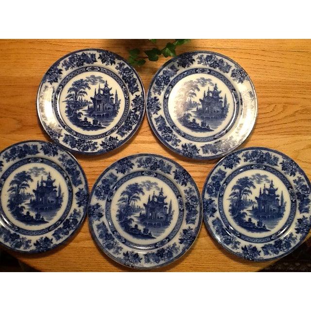 Doulton Madras Flow Blue Dinner Plates - Set of 5 - Image 2 of 5