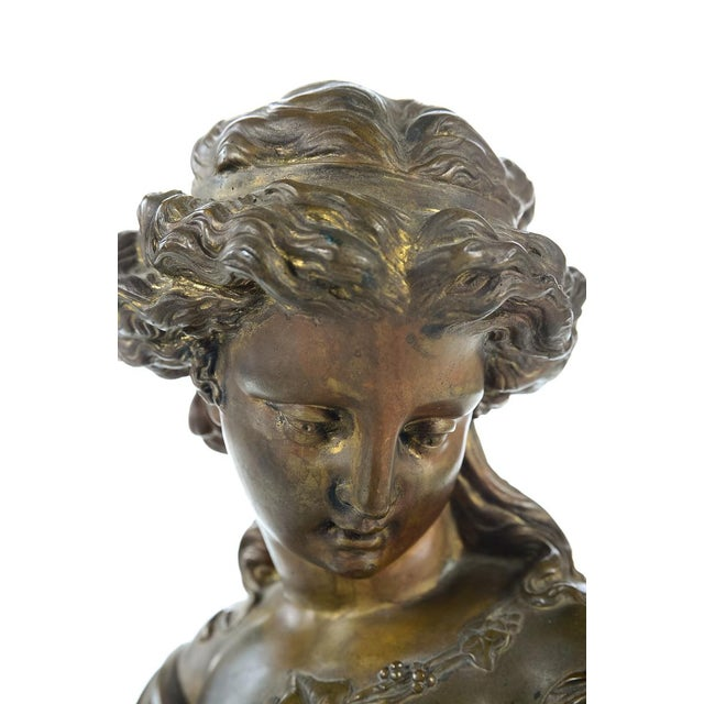 French 19th Century Bronze Maiden Bust - Image 3 of 9