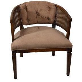 Image of Vintage Barrel Cane Back Chair