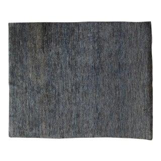 Contemporary Dark Grey & Brown Hemp Rug - 7′10″ × 9′9″
