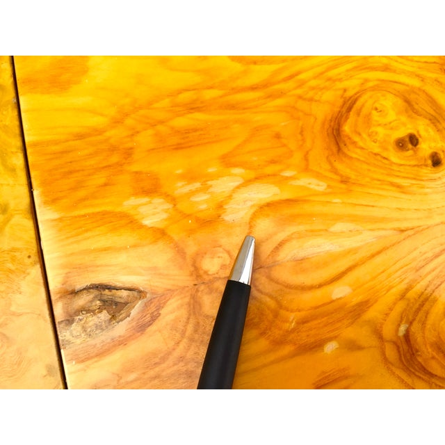 Burl Wood & Chrome Dining Table - Image 8 of 11