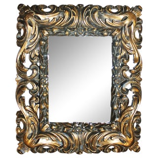 Deeply Carved Gilt Mirror