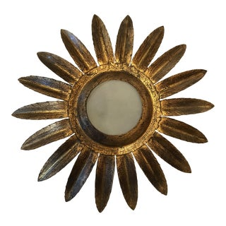 Antique Sunburst French Gilt Pendant Light
