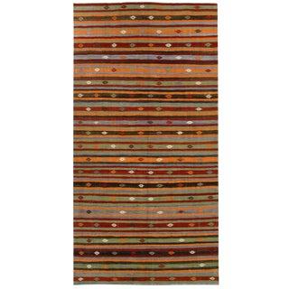 Vintage Turkish Kilim Flatweave -- 5'2 x 10'5