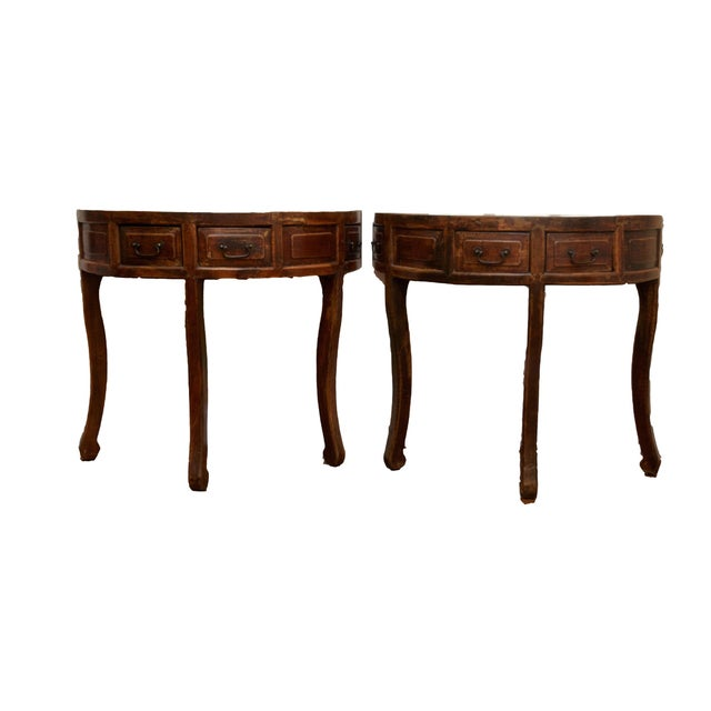 Demi Lune Tables or Round Accent Table - Set of 2 - Image 1 of 8