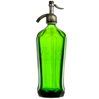 Vintage Purity Green Glass Seltzer Bottle