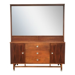 Stanley Mid-Century Glass Dining Hutch