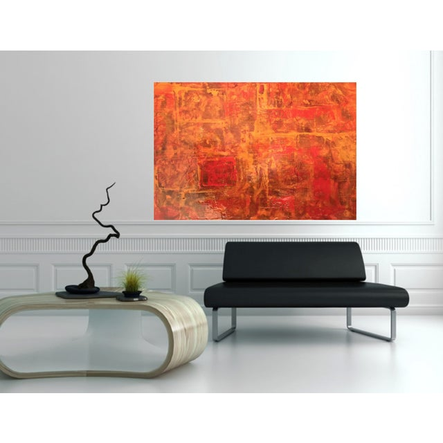Bryan Boomershine Red-Orange Abstract Painting - Image 4 of 5