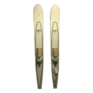 Vintage Painted Water Skis