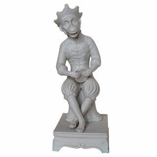 French White Porcelain/Bisque Monkey