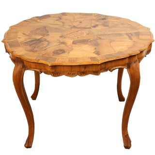 Danish Walnut Inlaid Side Table