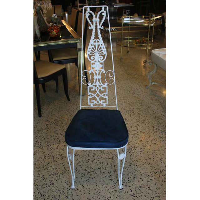 Art Deco White Lacquered Iron Dining Chairs - Set of 6 - Image 10 of 10
