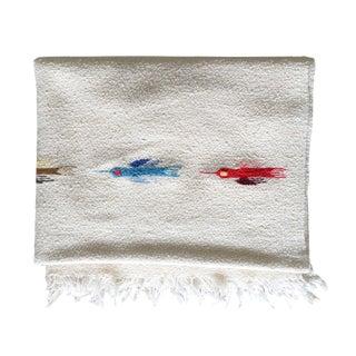 Vintage Cream Serape Thunderbird Blanket
