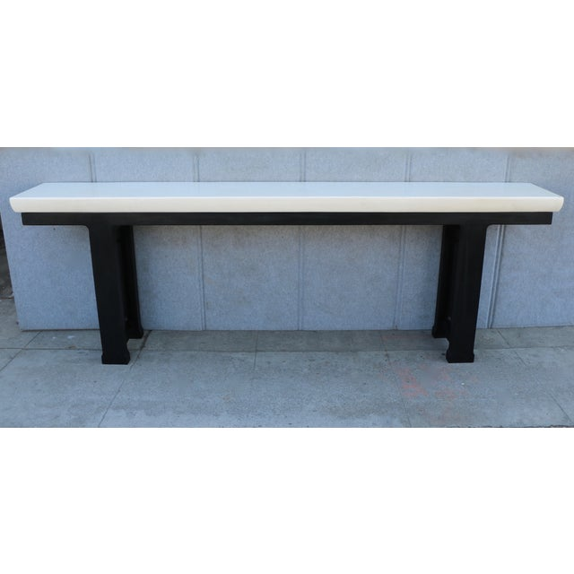 Modern wooden console table chairish for Table th width ignored