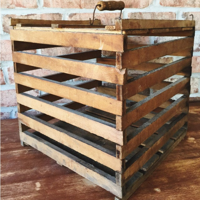 Antique Egg Carrier Crate - Image 4 of 6