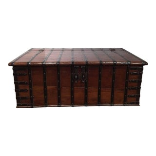 19th Century English Chestnut Coffee Table Trunk