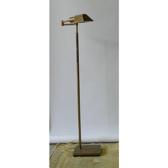 Adjustable Brass Floor Lamp - Image 2 of 5