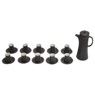 Dansk Flamestone Coffee Pot & Espresso Cups