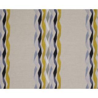 James Hare Yellow Carnival Stripe Fabric - 3 Yards