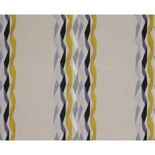 James Hare Yellow Carnival Stripe Fabric - 3 Yards