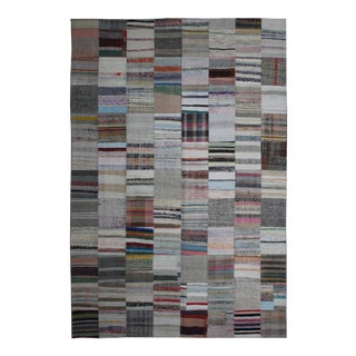 "Aara Rugs Inc. Hand Knotted Patchwork Kilim Rug - 11'5"" X 8'1"""