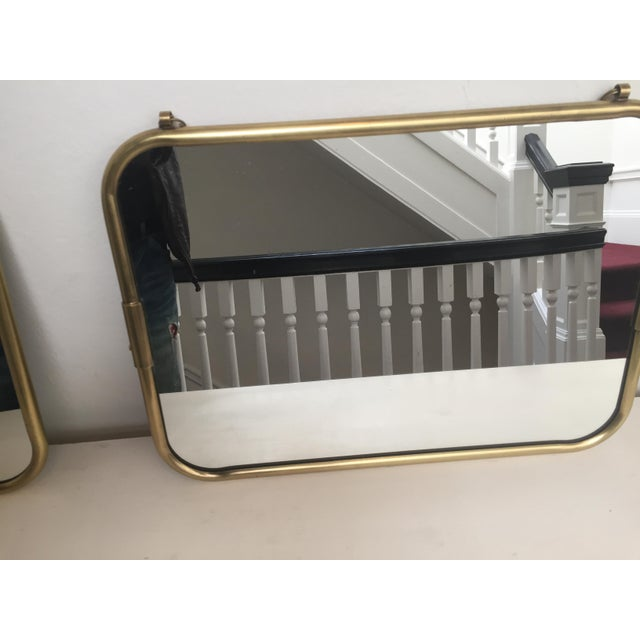 Art Deco Brass Horizontal Mirror - Image 4 of 5