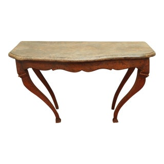 18th Century Console Table with Fossil Embedded Stone Top