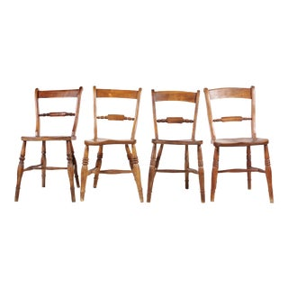 Antique Hitchcock-Style Dining Chairs - Set of 4